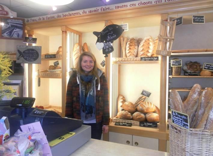 Amy à la boulangerie